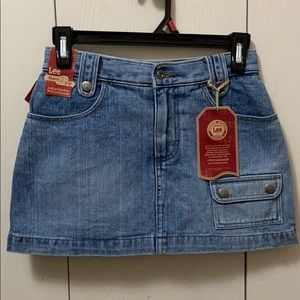 Lee Light Wash Denim Skort